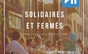 Covid_19 La Perla Bar Paris applique les directives gouvernementales, et sera fermée jusqu'à nouvel ordre