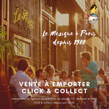 Lancement de la vente à emporter à La Perla Bar Paris. Service click and collect